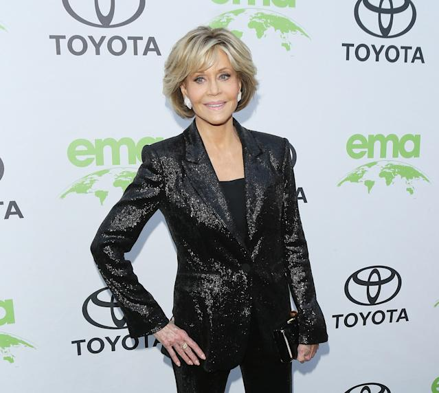 Jane Fonda attends the 1st Annual Environmental Media Association Honors Benefit Gala held on June 9, 2018, in Los Angeles. (Photo: Getty Images)