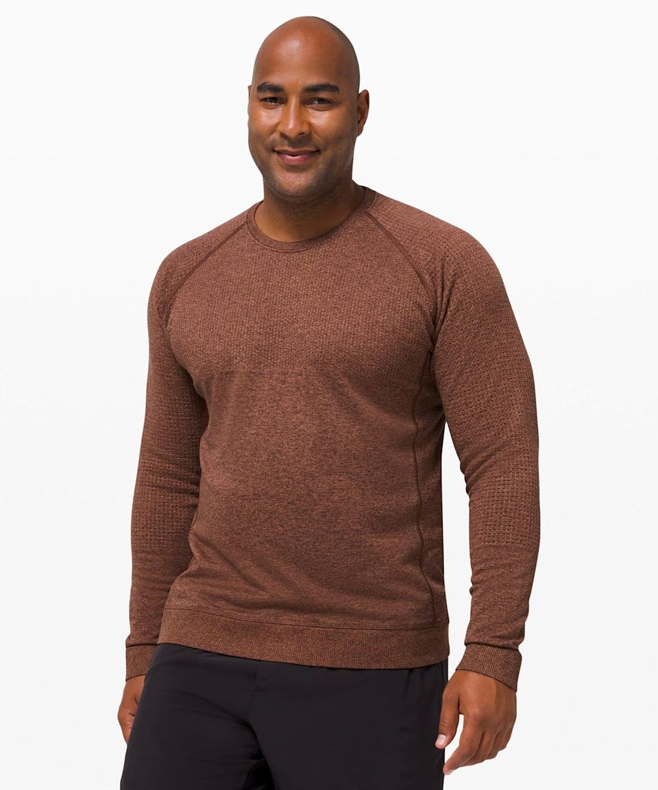 <p>They'll stay cozy in this <span>Lululemon Engineered Warmth Long Sleeve</span> ($148).</p>