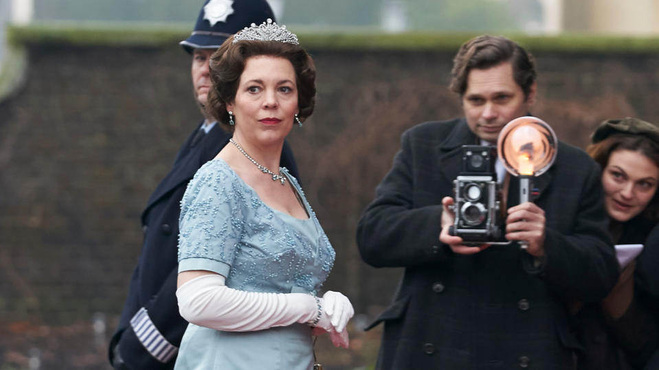 Olivia Colman will play the Queen in season four of 'The Crown' too, before she is replaced. (Credit: Des Willie/Netflix)