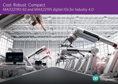 Maxim's expanded family of digital input ICs enable designers of industrial equipment to meet the size, power and performance requirements of Industry 4.0 applications. The portfolio now offers the industry's smallest solution size, lowest power dissipation and most robust performance.