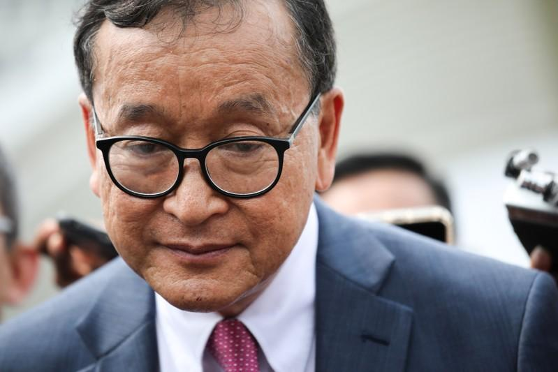 Indonesia barred Cambodia's Rainsy from flight to Jakarta: airline