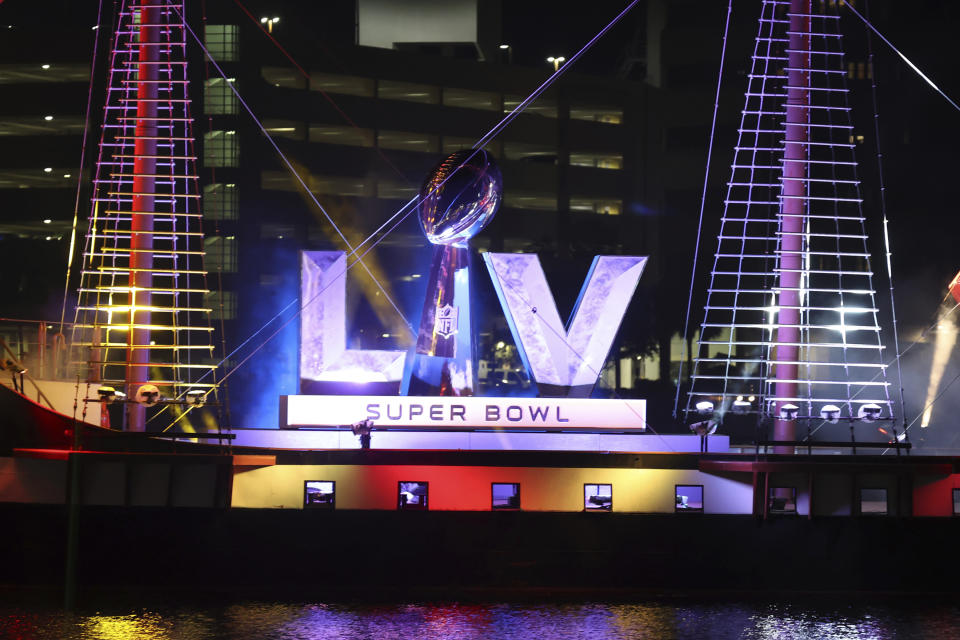 TAMPA, FL - JANUARY 29: Tampa Kicks off Super Bowl LV Experience Week with pirate ship and fireworks show on January 29, 2021. Credit: mpi34/MediaPunch /IPX