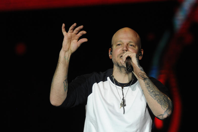 MEXICO CITY, MEXICO –DECEMBER 8: Residente performs during the Radical Mestizo International Music Festival at Zocalo on December 8, 2019 in Mexico City, Mexico. (Photo by Pedro Gonzalez Castillo/Getty Images)