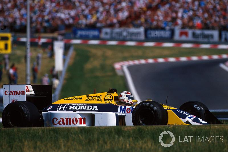 "Nelson Piquet - Williams FW11B-Honda - GP de Hungría 1987<span class=""copyright"">Sutton Motorsport Images</span>"
