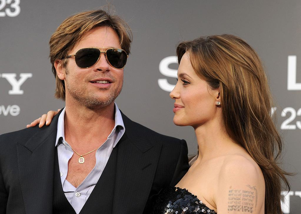 "<a href=""http://movies.yahoo.com/movie/contributor/1800018965"">Brad Pitt</a> and <a href=""http://movies.yahoo.com/movie/contributor/1800019275"">Angelina Jolie</a> at the Los Angeles premiere of <a href=""http://movies.yahoo.com/movie/1810072508/info"">Salt</a> - 07/19/2010"
