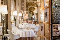 """<p>With Monet's water lilies in the Orangerie and the Mona Lisa standing proud in the Louvre, both just a 10-minute stroll away, <a href=""""https://www.booking.com/hotel/fr/le-meurice-paris.en-gb.html?aid=1922306&label=paris-hotels"""" rel=""""nofollow noopener"""" target=""""_blank"""" data-ylk=""""slk:Le Meurice"""" class=""""link rapid-noclick-resp"""">Le Meurice</a> is the perfect choice for art lovers. Like the city itself, Le Meurice has been shaped by the artists who have called it home - take the Dalí restaurant, for example, with artistic soft furnishings, mirrors and quotes painstakingly painted on the walls above you, or the ornate ceiling and fresco wall panels of Restaurant le Meurice Alain Ducasse.</p><p>Afternoon tea in the Dalí restaurant is not to be missed, with plump, decorative pastries expertly crafted by an award-winning pastry chef. They could almost be housed in the Musée des Arts Décoratifs, which you'll find just a short stroll down the Rue de Rivoli with wonderful photography, textile and jewellery exhibitions on offer. This is a hotel for indulging your artistic side.</p><p><a class=""""link rapid-noclick-resp"""" href=""""https://www.booking.com/hotel/fr/le-meurice-paris.en-gb.html?aid=1922306&label=paris-hotels"""" rel=""""nofollow noopener"""" target=""""_blank"""" data-ylk=""""slk:CHECK AVAILABILITY"""">CHECK AVAILABILITY</a></p>"""