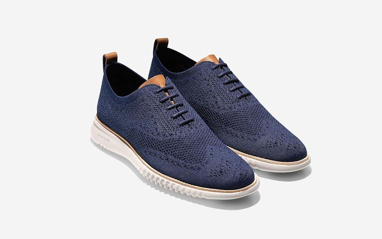 """<p>Cole Haan's knit 2.Zerogrand sneakers make dressing up easy and comfortable (for once). There are 13 different colorways to choose from.</p> <p>To buy: <a href=""""https://www.pntrs.com/t/8-11046-131940-142577?sid=TL%2C11Men%25E2%2580%2599sDressSneakersThatDon%25E2%2580%2599tScream%25E2%2580%2598Tourist%25E2%2580%2599%2Cszypulsr%2CSHO%2CGAL%2C677482%2C201909%2CI&url=http%3A%2F%2Fwww.colehaan.com%2Fmens-2.zerogrand-oxford-with-stitchlite-ironstone-magnet-optic-white%2FC27947.html"""" target=""""_blank"""">colehaan.com</a>, $200</p>"""