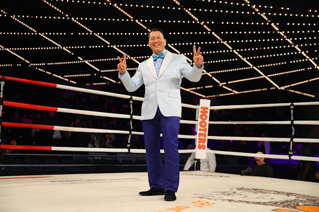 <p>Dave Siev, head coach and president of NYPD Fighting Finest Boxing Team poses for a photo before the start of festivities at the NYPD Boxing Championships at the Hulu Theater at Madison Square Garden on March 15, 2018. (Gordon Donovan/Yahoo News) </p>