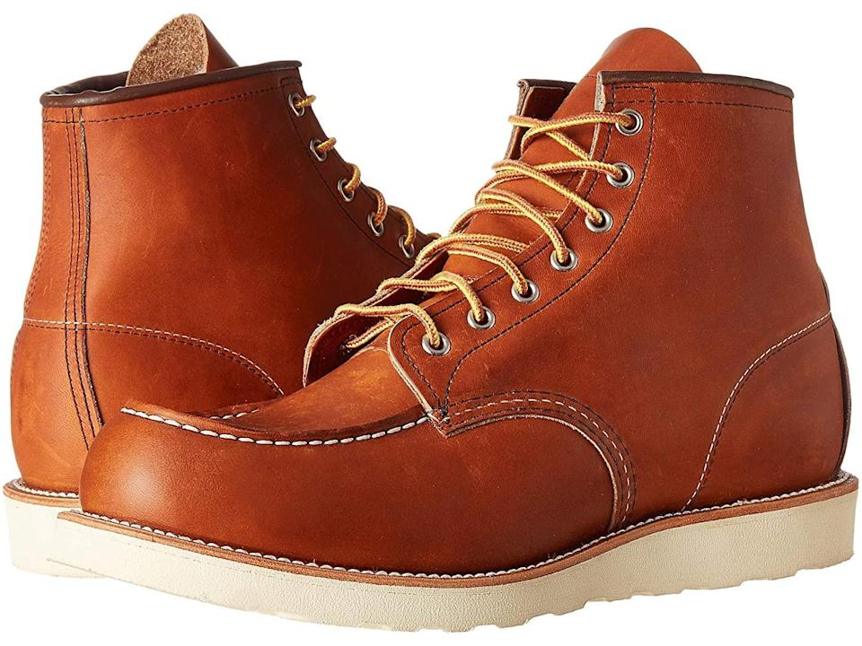 brown leather boots mens red wing
