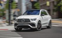 """<p>The new, more powerful version of the <a href=""""https://www.caranddriver.com/mercedes-amg/gle53-4matic-gle63-4matic"""" rel=""""nofollow noopener"""" target=""""_blank"""" data-ylk=""""slk:Mercedes-AMG GLE63 S"""" class=""""link rapid-noclick-resp"""">Mercedes-AMG GLE63 S</a> is a rocket. Gone is the twin-turbo 5.5-liter V-8, replaced with a twin-turbocharged 4.0-liter V-8 with the brand's EQ Boost motor-generator, which combines a starter motor and an alternator in a single electric motor mounted between the engine and the nine-speed transmission. Output jumps from 577 hp to 603 horsepower, and maximum torque increases from 561 lb-ft to 627. Our test of the more powerful AMG GLE63 S revealed a <a href=""""https://www.caranddriver.com/reviews/a29622365/2019-rolls-royce-cullinan-by-the-numbers/"""" rel=""""nofollow noopener"""" target=""""_blank"""" data-ylk=""""slk:zero-to-60 mph time of 3.4"""" class=""""link rapid-noclick-resp"""">zero-to-60 mph time of 3.4</a>. Top speed is electronically limited to 174 mph.</p><p><a class=""""link rapid-noclick-resp"""" href=""""https://www.caranddriver.com/mercedes-amg/gle53-4matic-gle63-4matic"""" rel=""""nofollow noopener"""" target=""""_blank"""" data-ylk=""""slk:MORE GLE63 SPECS"""">MORE GLE63 SPECS</a></p>"""