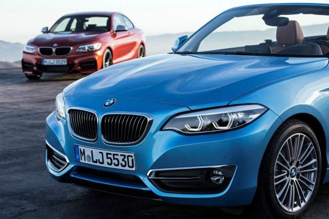 Blue and Red 2017 BMW 2 Series Coupe and Convertible