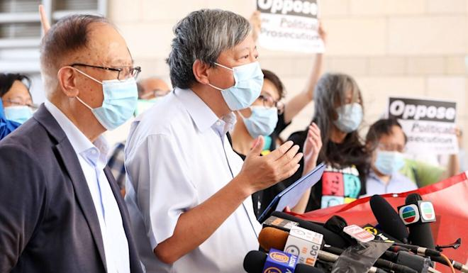 Among those who remain defiant are Yeung Sum (left) and Lee Cheuk-yan. Photo: May Tse