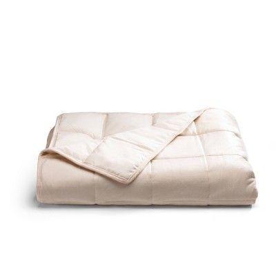"""<p><strong>Tranquility</strong></p><p>target.com</p><p><strong>$49.00</strong></p><p><a href=""""https://www.target.com/p/12lb-ivory-weighted-throw-blanket-tranquility/-/A-53691544"""" rel=""""nofollow noopener"""" target=""""_blank"""" data-ylk=""""slk:Shop Now"""" class=""""link rapid-noclick-resp"""">Shop Now</a></p><p>No need to have a pink fit over lack of sleepy; just try this powdery-hued weighted blanket. </p>"""