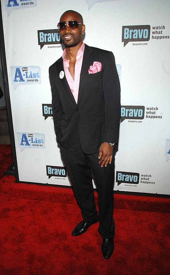 """Gorgeous """"Make Me a Supermodel"""" co-host Tyson Beckford proves that real men do wear pink. Jamie McCarthy/<a href=""""http://www.wireimage.com"""" target=""""new"""">WireImage.com</a> - June 4, 2008"""