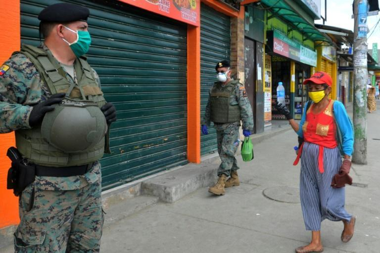Guayaquil Mayor Cynthia Viteri suggested Friday using cordons of soldiers to isolate the sites of coronavirus outbreaks in the Ecuadoran business capital