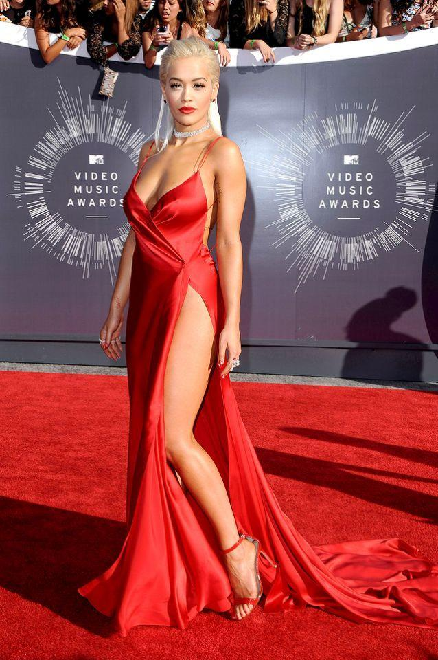 "<p>The British singer wore this red frock at the 2014 MTV VMAs, and it quickly earned the label of <a href=""http://people.com/style/rita-oras-red-carpet-rules-youll-see-them-all-in-effect-at-the-vmas/"" rel=""nofollow noopener"" target=""_blank"" data-ylk=""slk:her favorite-ever red carpet look"" class=""link rapid-noclick-resp"">her favorite-ever red carpet look</a>. We're sure she's not the only admirer. (Photo: Getty Images) </p>"