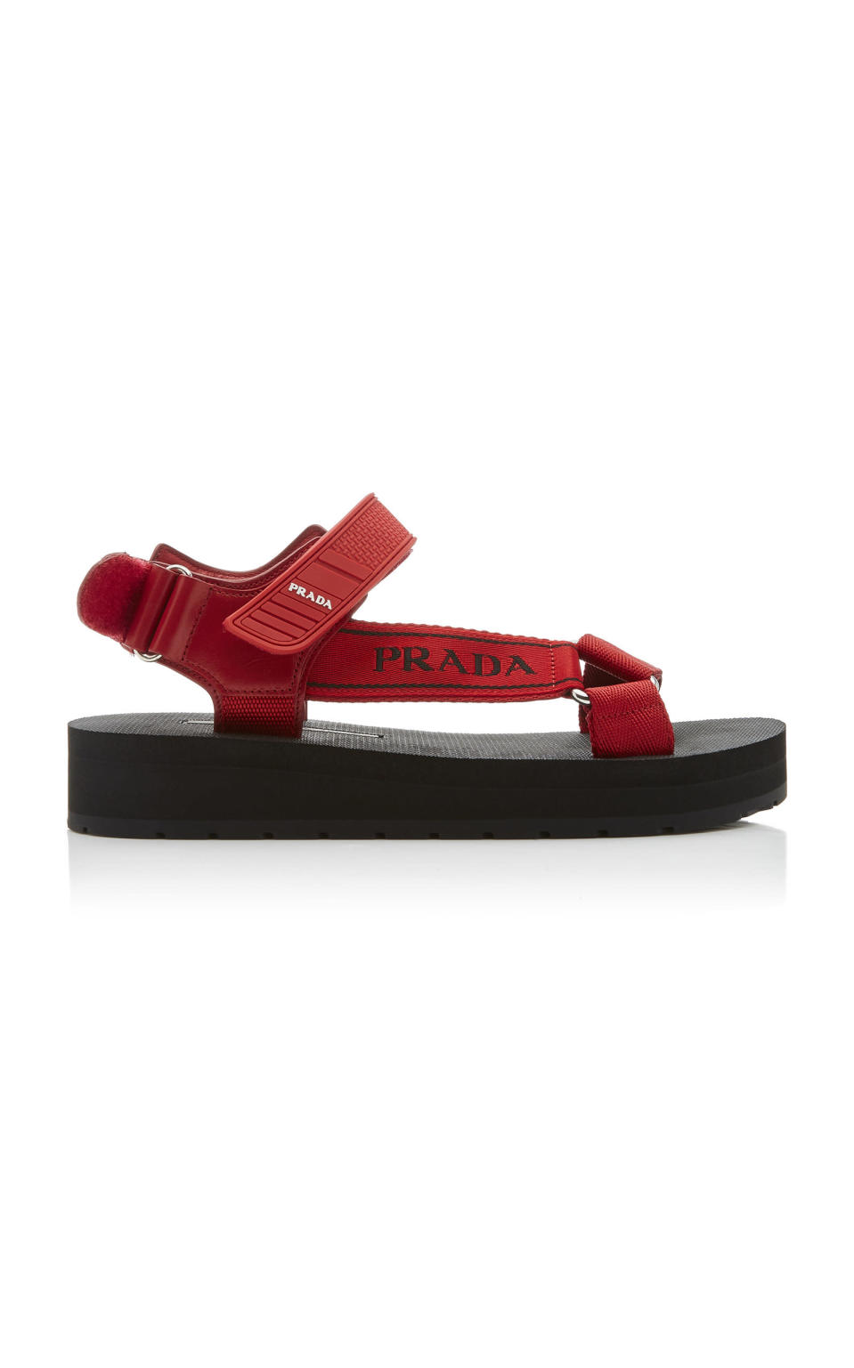 """<p><strong>Prada</strong></p><p>modaoperandi.com</p><p><strong>$590.00</strong></p><p><a href=""""https://go.redirectingat.com?id=74968X1596630&url=https%3A%2F%2Fwww.modaoperandi.com%2Fprada-r20%2Fcanvas-jacquard-and-rubber-sandals&sref=https%3A%2F%2Fwww.harpersbazaar.com%2Ffashion%2Ftrends%2Fg31749966%2Fsummer-2020-shoe-trends%2F"""" rel=""""nofollow noopener"""" target=""""_blank"""" data-ylk=""""slk:Shop Now"""" class=""""link rapid-noclick-resp"""">Shop Now</a></p>Hook and loop fastening Composition: jacquard, rubber Made in Italy"""