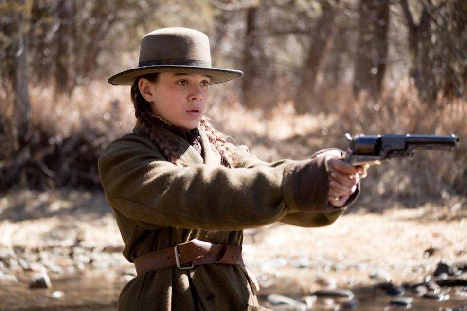 <p>Steinfeld was one of 15,000 actresses who auditioned for the role of Mattie Ross, in the Coen brothers' remake of the classic Western, <i>True Grit. </i>As a young daughter seeking to avenge her father's murder, her performance was so convincing that it earned the 14-year-old an Oscar nomination and also caught the eye of Miuccia Prada, who immediately made the star of the face of Miu Miu's Fall 2011 campaign. </p>