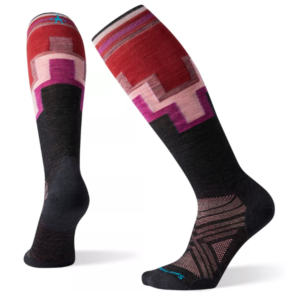 Smartwool PhD Ski Ultra Light Pattern Socks in Charcoal