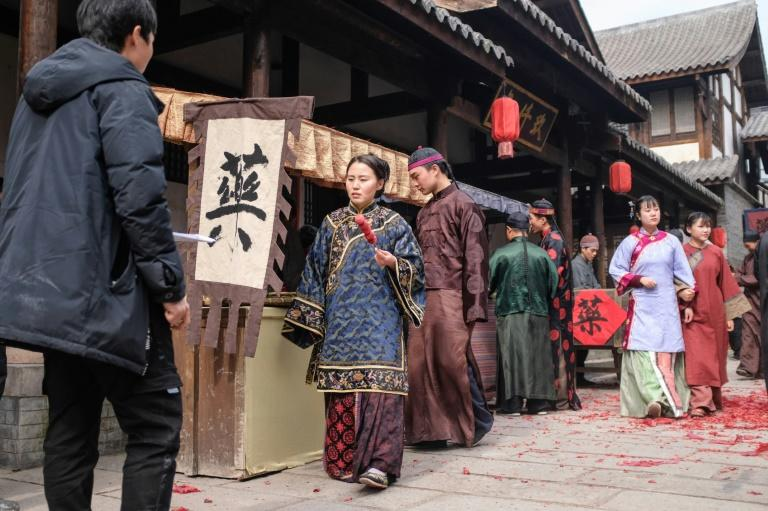 Thousands of people work as extras at Hengdian World Studios in China