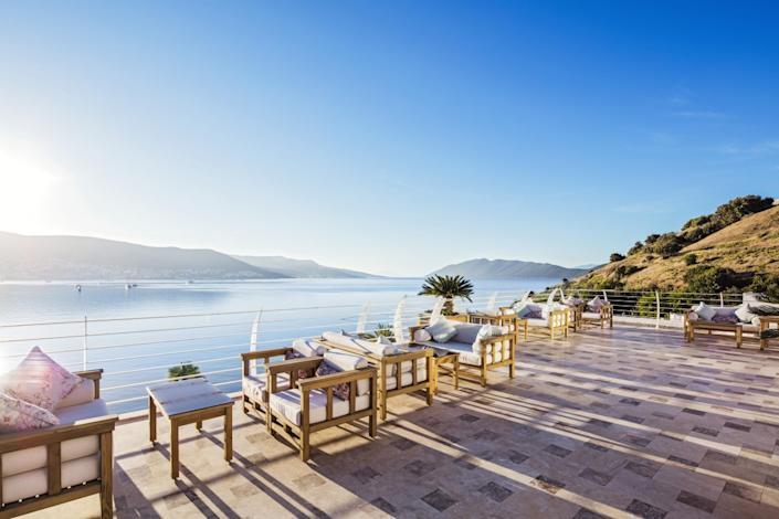 The hotel has stellar views of the bay and Bodrum Castle. [Photo: Voyage Bodrum]