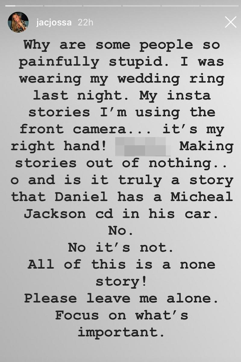 Rebuttal: Jacqueline Jossa shut down reports that she's stopped wearing her wedding ring (Instagram @jacjossa)