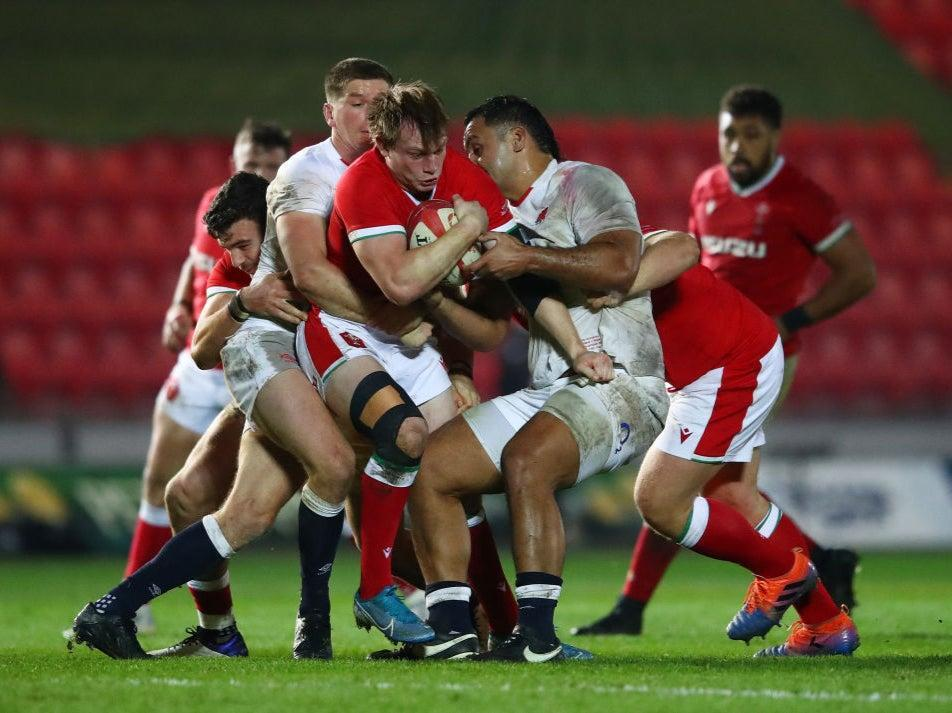 <p>England in action against Wales in the Autumn Nations Cup</p> (Getty Images)