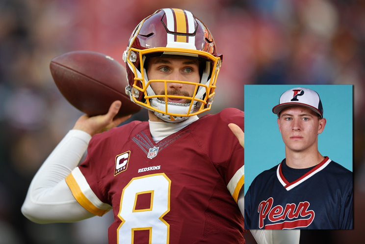 Redskins quarterback Kirk Cousins and cousin Jake Cousins. (AP/Penn Athletics)
