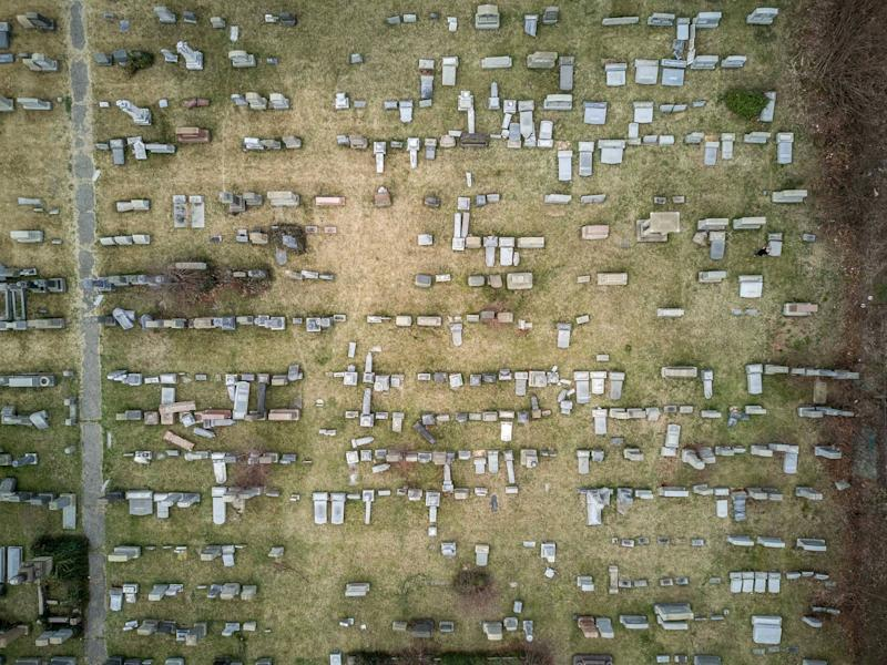 This Drone Photo Shows the Extent of Vandalism at a Jewish Cemetery