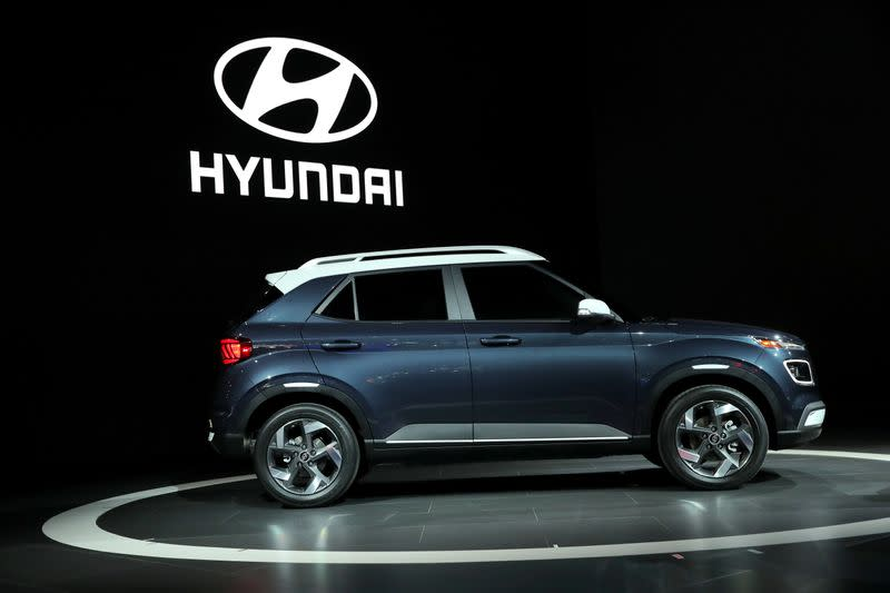 The 2020 Hyundai Venue is revealed at the 2019 New York International Auto Show in New York