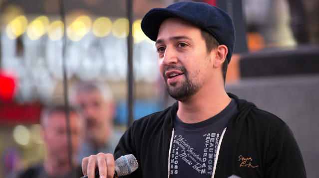 """""""Hamilton"""" playwright Lin-Manuel Miranda dropped a benefit single for Puerto Rico on Thursday night that included a large list of famous Latin musicians."""