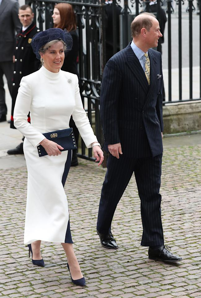 The Earl and Countess of Wessex arrive at the Commonwealth Service at Westminster Abbey, London on Commonwealth Day. The service is the Duke and Duchess of Sussex's final official engagement before they quit royal life.