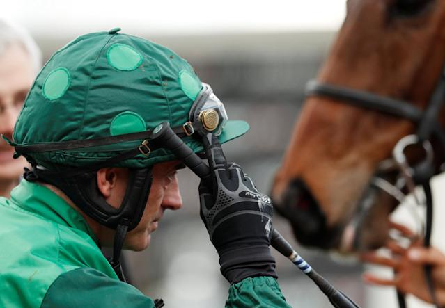 Horse Racing - Cheltenham Festival - Cheltenham Racecourse, Cheltenham, Britain - March 13, 2018 Ruby Walsh after winning the 14:10 Racing Post Arkle Challenge Trophy Novices' Chase Action Images via Reuters/Andrew Boyers
