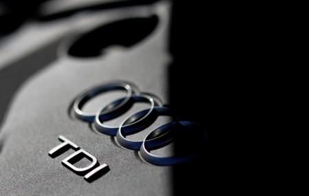 FILE PHOTO: The engine of an A6 model of German car manufacturer Audi is pictured in Hanau