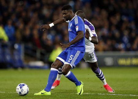 Cardiff City's Bruno Ecuele Manga and Newcastle United's Mohamed Diame in action