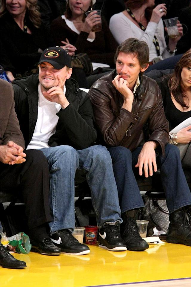 """Lakers fans can usually catch Leonardo DiCaprio and his pal Lukas Haas sitting courtside. Noel Vasquez/<a href=""""http://www.gettyimages.com/"""" target=""""new"""">GettyImages.com</a> - December 12, 2008"""