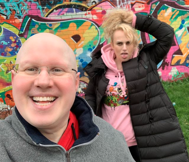 Rebel Wilson and Matt Lucas