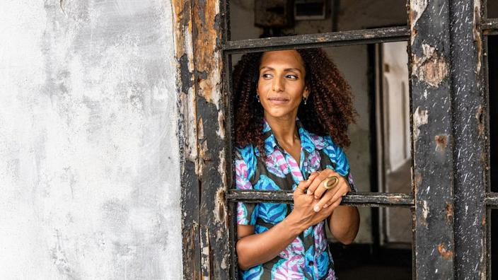 Afua Hirsch at Elmina Castle in Ghana