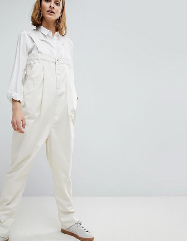 Asos white dungarees. (Photo: ASOS)