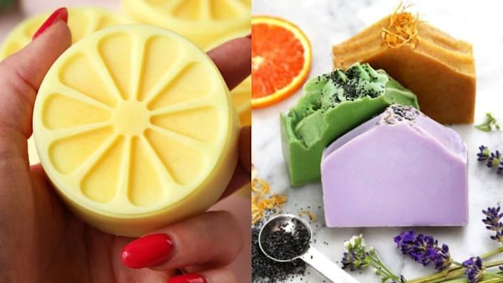 Look how gorgeous these custom soap bars are!