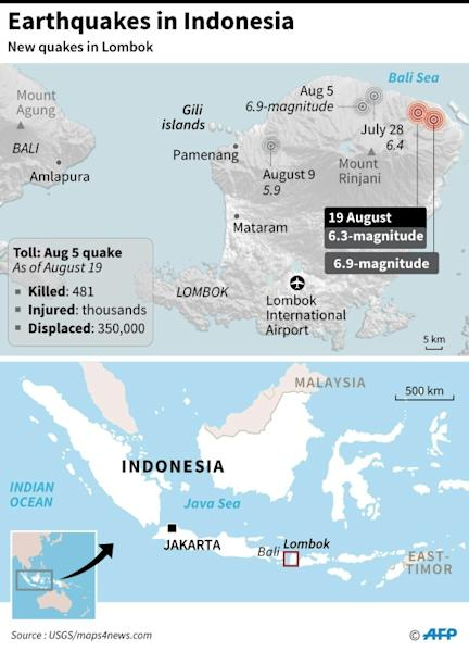 The quakes have destroyed home, hospitals and schools on Lombok