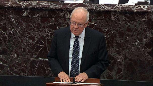PHOTO: President Donald Trump's counsel Ken Starr speaks during closing arguments in the impeachment trial, Feb. 3, 2020, at the Capitol. (ABC News)