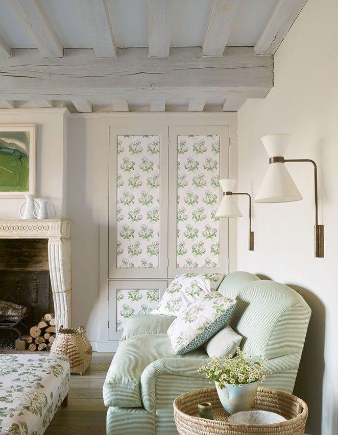 """<p>Look around your home for innovative wallpapering opportunities beyond your four walls. Wardrobes and cupboards, especially those with panelling, are perfect for this kind of experimenting. Consider, too, the inner doors in your home, or other pieces of furniture like a chest of drawers. </p><p>Pictured: <a href=""""https://designs.colefax.com/Design/F4705-01?Bypass=True"""" rel=""""nofollow noopener"""" target=""""_blank"""" data-ylk=""""slk:Greenacre"""" class=""""link rapid-noclick-resp"""">Greenacre</a>, Colefax and Fowler</p>"""