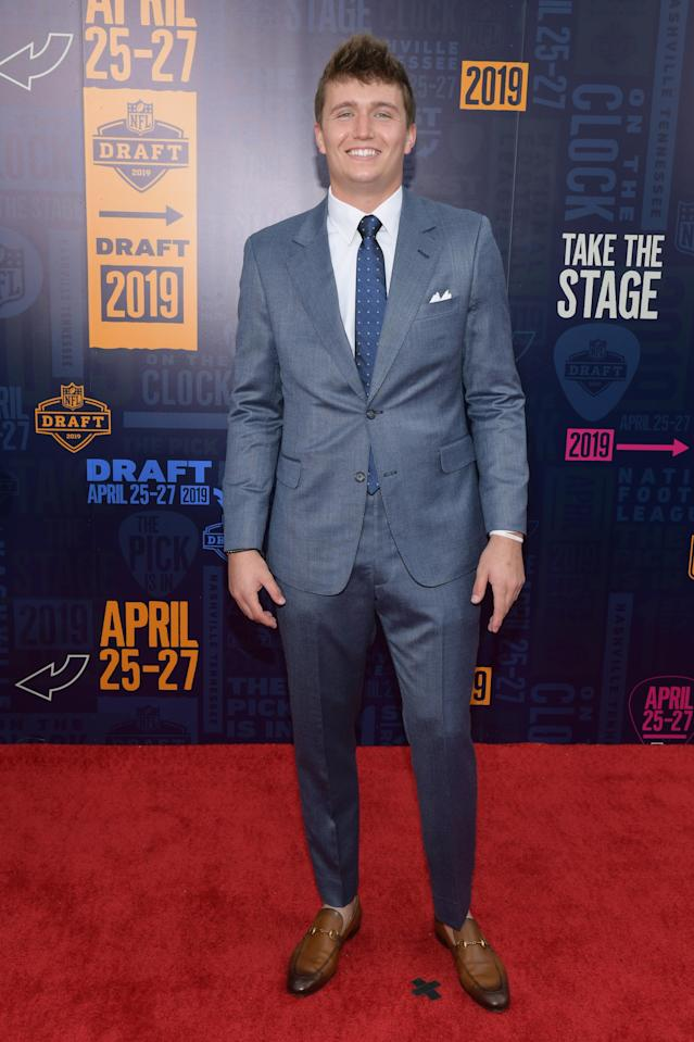 Football player Drew Lock attends the 2019 NFL Draft on April 25, 2019 in Nashville, Tennessee. (Photo by Jason Kempin/Getty Images)