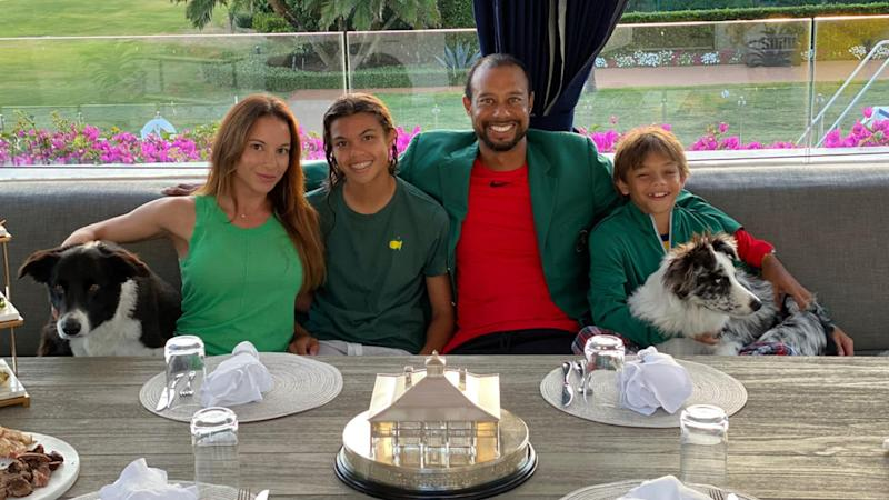 Tiger Woods hosts Masters Champions Dinner with family, 'quarantine style'