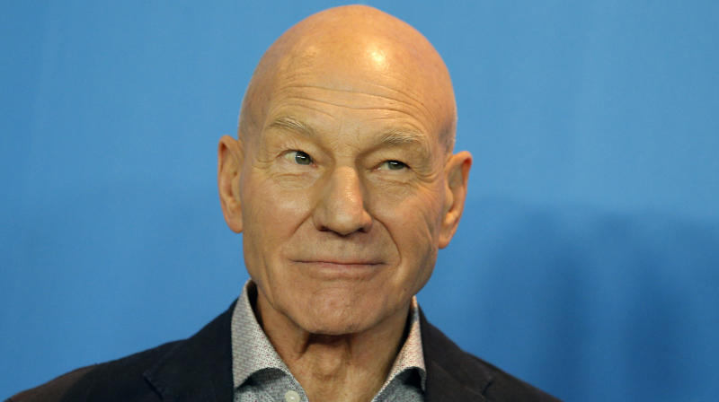 Photo Of Patrick Stewart Picking Apples Sends Redditors Into Overdrive