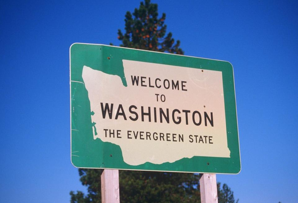 washington state welcome sign