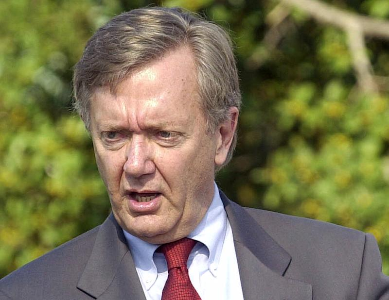 FILE - In this Jan. 16, 2001 file photo, then-Interior Secretary Bruce Babbitt speaks  in Coronado, Calif.  Babbitt is urging President Barack Obama to step up efforts to conserve public lands as he begins his second term. Babbitt, who led Interior for eight years under President Bill Clinton, said Obama should adopt what Babbitt called a common-sense principle: For every acre of public land leased to the oil and gas industry, one acre should be permanently protected for future generations. Over the past four years, more than 6 million acres have been leased for oil and gas, compared with 2.6 million acres permanently protected.  (AP Photo/Lenny Ignelzi, File)