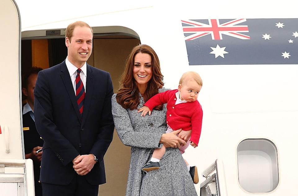 Prince George was just eight months old when he went on a royal tour to Australia and New Zealand in 2014 [Photo: Getty]