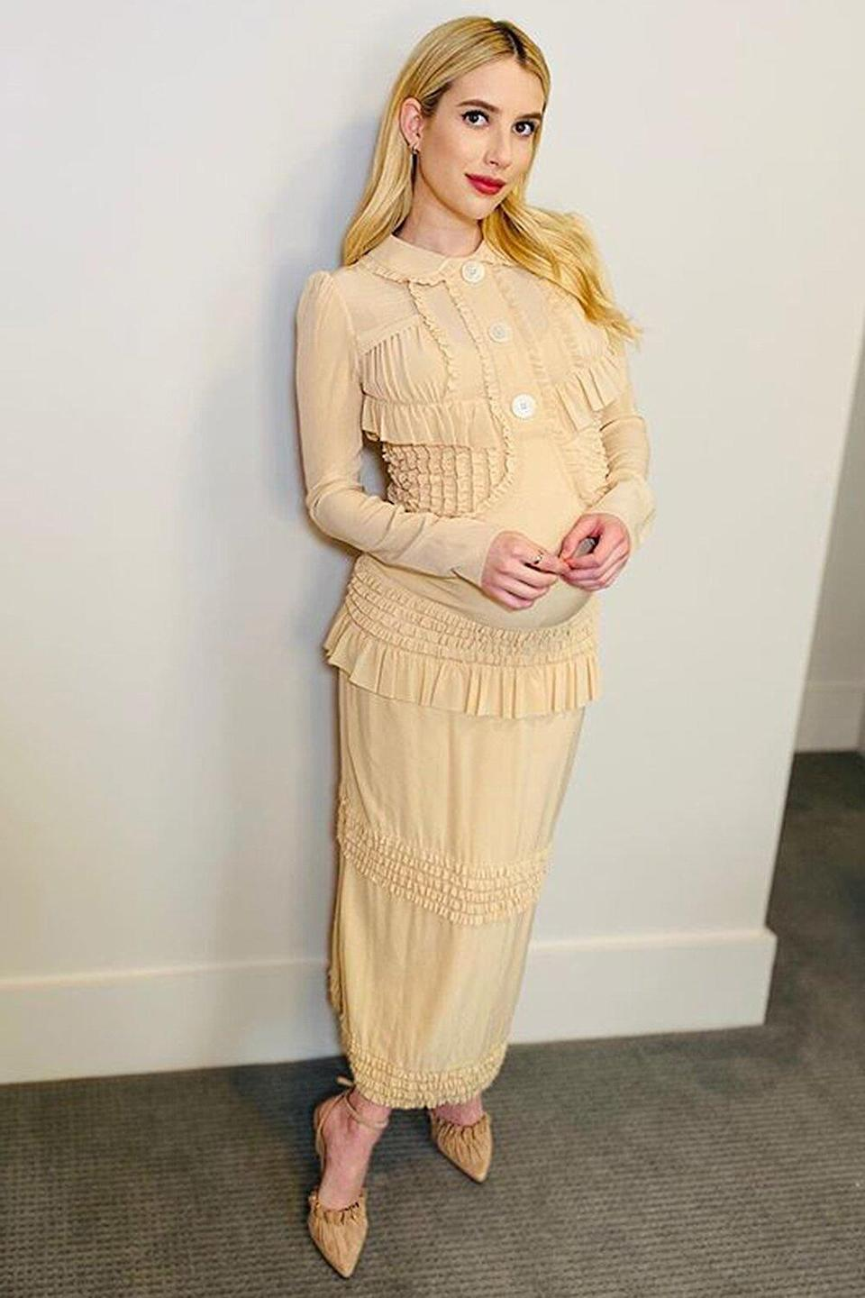 Pregnant Emma Roberts Reveals Why She's Happy to Be Expecting a Baby Boy: 'Thank Goodness'